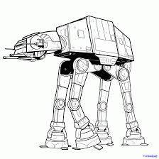 how to draw an imperial walker