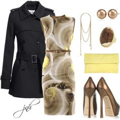 """yellow and gold"" by jill-hammel on Polyvore"
