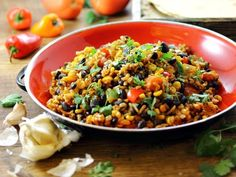 Mexican Fried Brown Rice is healthy, plentiful, spicy and delicious! Vegan and gluten free.