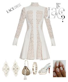"""Whose that lady in lace&   lace dress contest"" by im-karla-with-a-k ❤ liked on Polyvore featuring Alexander McQueen, Christian Louboutin and Charlotte Russe"