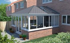 Elizabethan solid roof conservatory with 3 glass roof panels