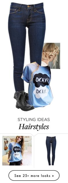 """""""""""Take of your makeup, let your hair down, take a breath. Look into the mirror at yourself, do you like you? Because I do like you."""""""" by shannaolo on Polyvore featuring Frame Denim"""