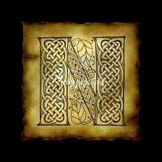 Celtic Letter N | Kristen Fox