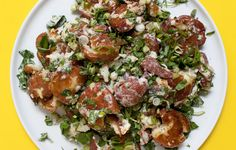 This recipe was created by reader Kim Smithers in our Chef Watson potato salad challenge.