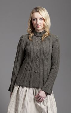 Strathspey by alice starmore.  a sweater with shape!