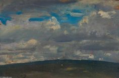 Nuages ​​sur Exmoor de Sir Alfred James Munnings (1878-1959, United Kingdom)