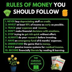 The rules of Financial Success Whats your opinion? Are you going to - Ecommerce - Start your online business with 14 days free trial - - The rules of Financial Success Whats your opinion? Are you going to implement any of these rules into your strategy? Financial Quotes, Financial Success, Financial Literacy, Financial Ratio, Budget Planer, Business Money, Business Ideas, Startup, Business Motivation