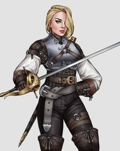 Duelist art by Mikezzzzz : ReasonableFantasy Female Character Design, Character Design Inspiration, Character Concept, Character Art, Character Ideas, Dnd Characters, Fantasy Characters, Female Characters, Female Armor