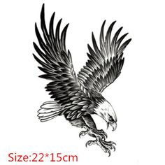 2015 New Body Art Beauty Makeup Black Sexy Eagle Tattoo 3D ...
