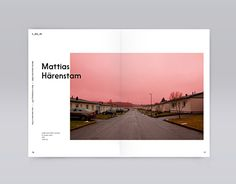 "The word ""tomrom"" means empty space in norwegian. T_mr_m is a traveling art exhibition in Sandefjord and Larvik, Norway. Book with texts by Maria Veie and Tommy Olsson among others, and lots of fine artwork by Aiko Tezuka, Mattias Härenstam and other co… Layout Design, Font Design, Print Layout, Typography Design, Portfolio Design, Mise En Page Portfolio, Photography Portfolio Layout, Interaction Design, Editorial Layout"