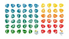 Rio 2016 Olympic and Paralympic pictograms revealed | Webdesigner Depot