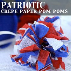Patriotic paper pom pom instructions - These would look nice on kids' bikes for a 4th of July parade.