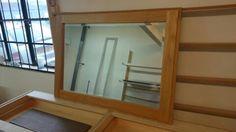 simple oak mirror