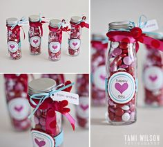adorable glass bottle filled with valentine candies for teacher gifts Homemade Valentines, Valentines Day Treats, Valentine Day Love, Valentine Day Crafts, Holiday Crafts, Holiday Fun, Teacher Valentine, Printable Valentine, Valentines Day Gifts For Friends