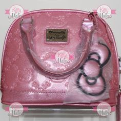 Bolsa CHICA Loungefly Rosa Brillante Hello Kitty