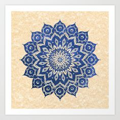 ókshirahm sky mandala Art Print by Peter Patrick Barreda - $20.00