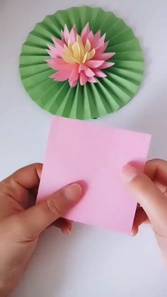 You'll be amazed at how simple this beautiful origami lotus flower is to make with just a few cuts, folds and a little added creativity!---- More DIY Ideas ---- This is easy craft of paper origami that kids can make, and most of all, it's useful Paper Flowers Craft, Paper Crafts Origami, Paper Crafts For Kids, Origami Art, Flower Crafts, Diy Flowers, Lotus Origami, Diy Paper, Paper Crafting