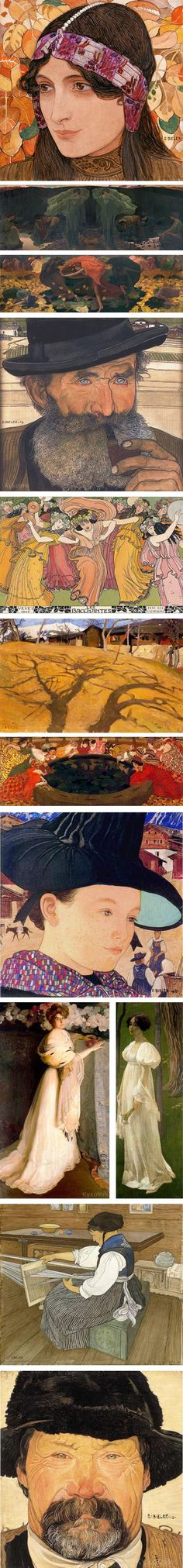 Ernest Biéler was a Swiss artist active in the late 19th and early 20th centuries whose works incorporates elements of Art Nouveau and Symbolism.