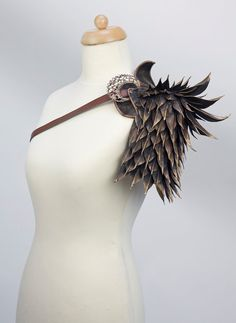 Dragon scale shoulder armor from Fairytas on Etsy