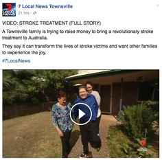 #Stroke Treatment covered on 7 Local News Townsville in #Australia!!  See the full story here: https://www.facebook.com/7NewsTownsville/videos/1066821860030566/ #InstituteOfNeurologicalRecovery #PSEforST #StrokeRecovery #INR #INRPLLC #PSE