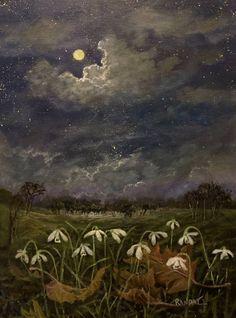 Original Landscape Painting by Randy Burns | Fine Art Art on Canvas | Snowdrops Know