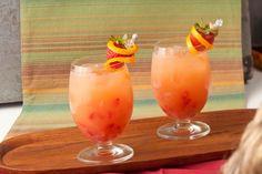 Florida Citrus–strawberry Iced Green Tea