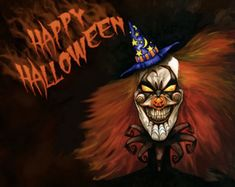 Scary Halloween Images, Clown Halloween, Halloween Captions, Photo Halloween, Happy Halloween Pictures, Halloween Music, Creepy Clown, Halloween Clipart, Halloween Quotes