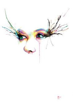 Watercolour painting Limited edition print Glance by indi1288, $25.00