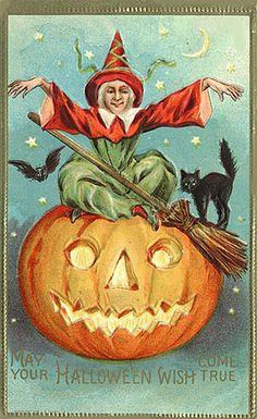 postcard.quenalbertini: Vintage Halloween Card