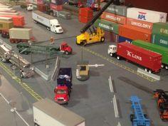 New ho scale intermodal yard Railroad Industry, Model Trains, Toy Trains, N Scale Trains, Image Model, Model Building Kits, Model Train Layouts, Train Set, Ho Scale