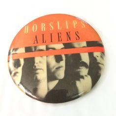 New to ThriftyTheresa on Etsy: Horslips Celtic Rock Button Aliens album 1978 Irish Folk Rock Pinback Badge Pin (7.00 USD)