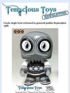 Scott Tolleson Uncle Argh Noir Edition 5-inch Mini Qee vinyl by Toy2R Tenacious