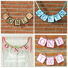 One banner. First Birthday party decorations