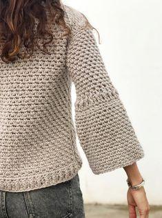 Crochet T Shirts, Crochet Cardigan, Crochet Clothes, Knit Crochet, Crochet Designs, Knitting Designs, Knitting Blogs, Modern Crochet, Crochet Woman