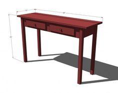 Stair Leg Flip Top Console Table - ana-white.com