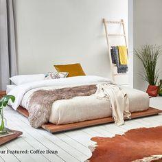 Modern Wooden Bed, Modern Daybed, Low Bed Frame, Under Bed Storage Boxes, Attic Bed, Cama King, Diy Bett, Low Loft Beds, Wooden Bed Frames