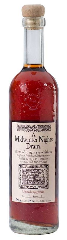 """What to drink on a blizzardy night here in North Carolina?  So much to choose from but one bottle stands out as appropriate–High West's """"A Midwinter Nights Dram®.""""  Being originally from Kentucky I begrudgingly admit liking High West products. Can someone other than Kentucky distilleries make bourbon and rye whiskeys?"""