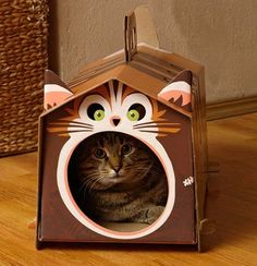 DIY Cardboard Cat Houses, 3 Creative Pet Design Ideas From Kotej