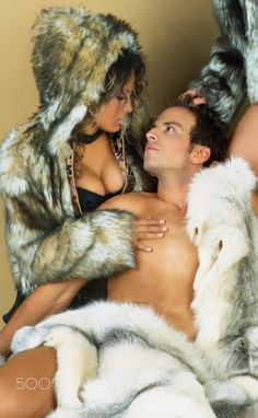Women's fashion - Furs and sensuality. Models:Alda and Georges