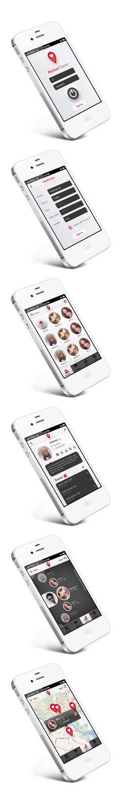 Partner Tracker App by Martin Schurdak, via Behance *** Smartphone application for sex-partner tracking :)