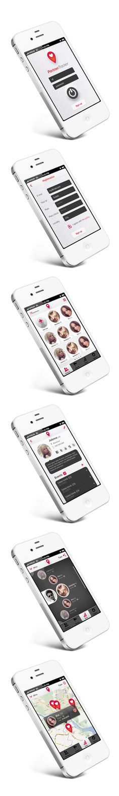 Partner Tracker App by Martin Schurdak, via Behance *** Smartphone application for sex-partner tracking :)