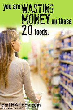 Are you wasting money on these 20 foods? Discover what they are and how you can save some extra cash. Save Money On Groceries, Ways To Save Money, Money Tips, Money Saving Tips, Groceries Budget, Mo Money, Budget Meals, Frugal Living Tips, Frugal Tips