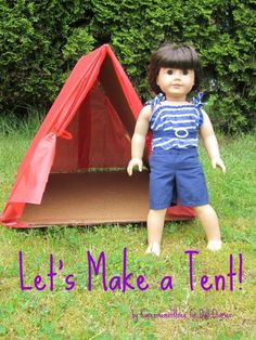 DIY Tutorial: DIY Dolls / How to Make a Doll Sized Tent - Bead&Cord