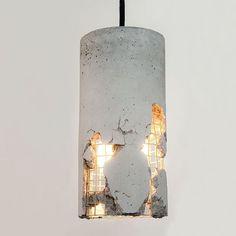 Delta Concrete Pendant Lamp by LJ Lamps. #p_roduct