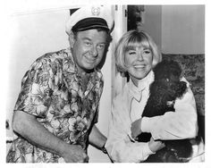 Doris Day and Arthur Godfrey and a poodle with a Hifalutin eye :)