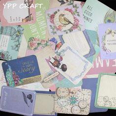 YPP CRAFT 40 stks dubbelzijdig Gedrukt Cardstock Die Cuts voor Scrapbooking Gelukkig Planner/Card Making/Journaling Project DIY