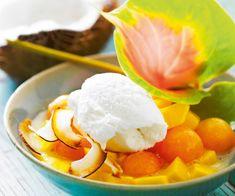 Salade de #melon et #glace à la noix de #coco