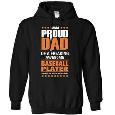 Pround dad of an awesome Baseball Player T Shirts, Hoodies. Get it now ==► https://www.sunfrog.com/LifeStyle/Pround-dad-of-an-awesome-Baseball-Player--1015-6394-Black-Hoodie.html?57074 $39.99