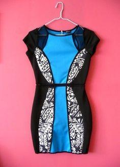 Kup mój przedmiot na #vintedpl http://www.vinted.pl/damska-odziez/krotkie-sukienki/10600498-river-island-38-m-sukienka-azteckie-wzory-aztec-style-wyszczuplajaca-bandage-bandazowa-bodycon