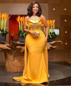 I'm naturally endowed - Joselyn Dumas - SmileCelebs African Attire, African Fashion Dresses, African Wear, African Dress, African Style, Prom Dresses Under 50, Prom Dresses For Sale, Wedding Dresses, Evening Party Gowns